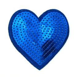 Zakrpa-srce-modra
